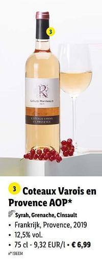 Coteaux varois en provence aop syrah, grenache, cinsault-Rosé wijnen