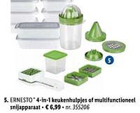 4-in-1 keukenhulpjes of multifunctioneel snijapparaat-Ernesto