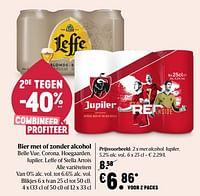 Bier met alcohol, jupiler-Jupiler