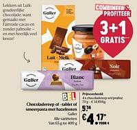 Galler chocoladereep wit-praliné-Galler