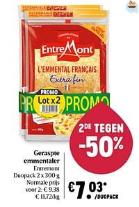 Geraspte emmentaler entremont-Entre Mont