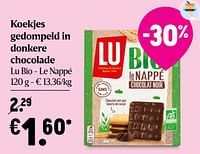 Koekjes gedompeld in donkere chocolade lu bio - le nappé-Lu