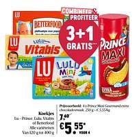 Lu prince maxi gourmand extra chocoladesmaak-Lu
