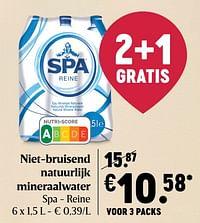 Niet-bruisend natuurlijk mineraalwater spa - reine-Spa