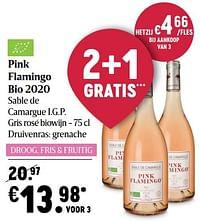 Pink flamingo bio 2020 sable de camargue i.g.p. gris rosé biowijn-Rosé wijnen