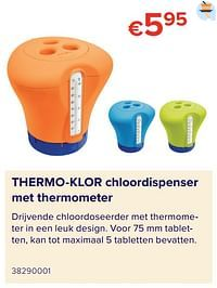 Thermo-klor chloordispenser met thermometer-Thermo-Klor
