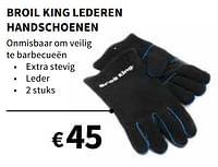 Broil king lederen handschoenen-Broil King
