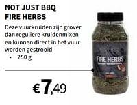 Not just bbq fire herbs-Not Just BBQ