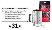 Weber brikettenstarterset-Weber