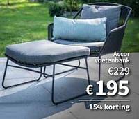 Accor voetenbank-Huismerk - Horta