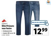 Slim fit jeans voor heren-Livergy