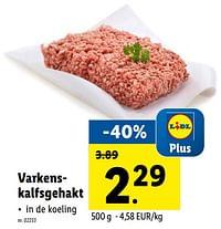 Varkenskalfsgehakt-Huismerk - Lidl