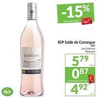 Igp sable de camargue bio les embruns rosé gris-Rosé wijnen