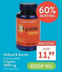 L-lysine 1000 mg-Huismerk - Holland & Barrett