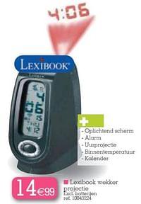Lexibook wekker projectie-Lexibook