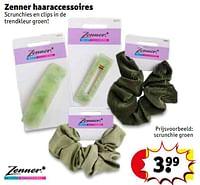 Scrunchie groen-zenner