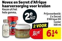 Secret d`afrique oil castor-Huismerk - Kruidvat