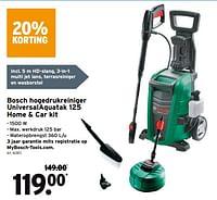 Bosch hogedrukreiniger universalaquatak 125 home + car kit-Bosch