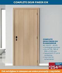 Complete deur fineer eik plankendeur-Huismerk - Zelfbouwmarkt