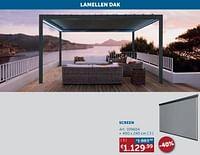 Lamellen dak screen (bescherming tegen zon en wind)-Huismerk - Zelfbouwmarkt