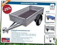 Ongeremde aanhangwagen toby-Huismerk - Zelfbouwmarkt