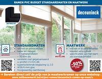 Ramen pvc budget standaardmaten en maatwerk -50%-Deceuninck