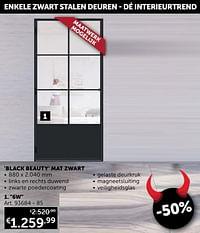 Stalen deur 6w panel black beauty mat zwart-Huismerk - Zelfbouwmarkt
