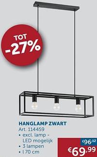 Hanglamp zwart-Huismerk - Zelfbouwmarkt