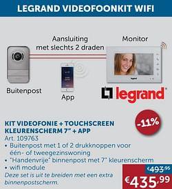 Kit videofonie + touchscreen kleurenscherm 7`` + app