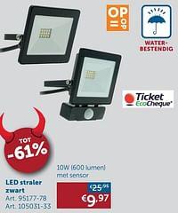 Ledstraler 10w met sensor-Huismerk - Zelfbouwmarkt