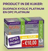 Duopack kyolic platinum en opc platinum-Mannavital