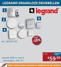 Legrand draadloze deurbel-Legrand