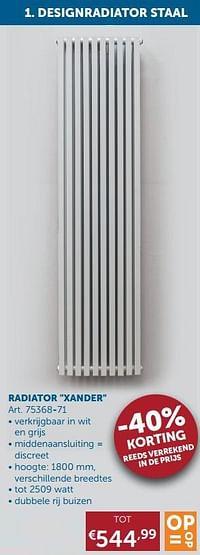 Designradiatoren staal radiator xander-Beauheat