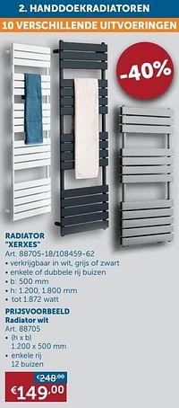 Handdoekradiatoren radiator xerxes-Beauheat