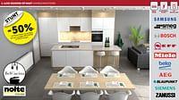 Luxe keukens op maat voorgemonteerd -50%-Huismerk - Zelfbouwmarkt