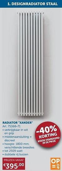 Radiator xander-Beauheat