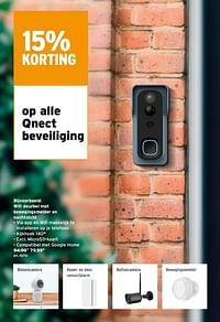 Wifi deurbel met bewegingsmelder en nachtzicht-Qnect