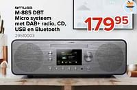 Muse m-885 dbt micro systeem met dab+ radio, cd, usb en bluetooth-Muse