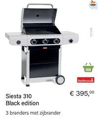 Barbecook siesta 310 black edition-Barbecook