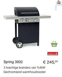 Barbecook spring 3002-Barbecook