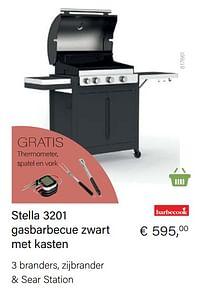 Barbecook stella 3201 gasbarbecue zwart met kasten-Barbecook