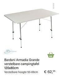 Bardani armadia grande verstelbare campingtafel-Bardani
