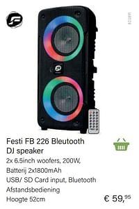 Festi fb 226 bleutooth dj speaker-Huismerk - Multi Bazar