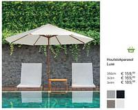 Houtstokparasol luxe-Huismerk - Multi Bazar
