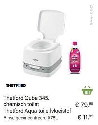Thetford qube 345, chemisch toilet thetford aqua toiletfvloeistof-Thetford