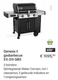 Weber genesis ii gasbarbecue ex-315 gbs-Weber