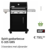 Weber spirit gasbarbecue e-325 gbs-Weber