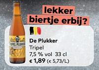 De plukker tripel-Brouwerij De Plukker