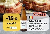Drink-drink! tandem white ipa-Huismerk - Bioplanet