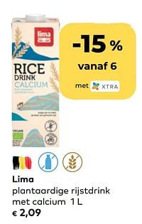 Lima plantaardige rijstdrink met calcium-Lima